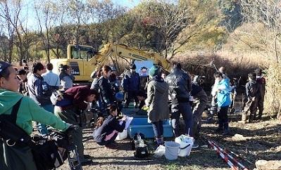静岡市麻機遊水地の水抜き調査.2017年12月6日第3工区.jpg